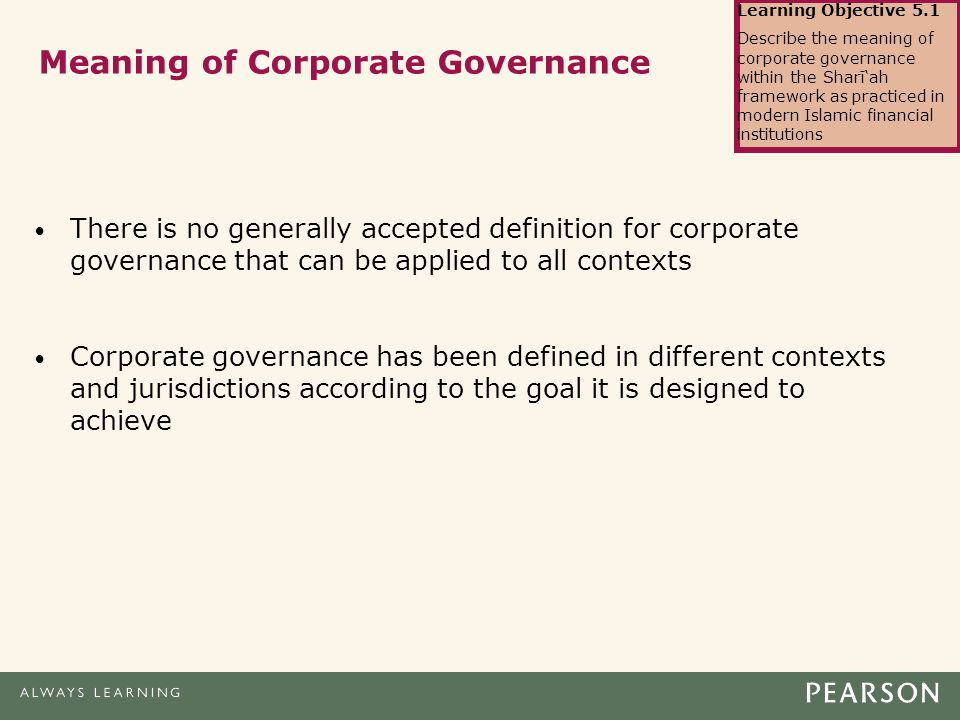 Chapter 5 Corporate Governance for Islamic Financial
