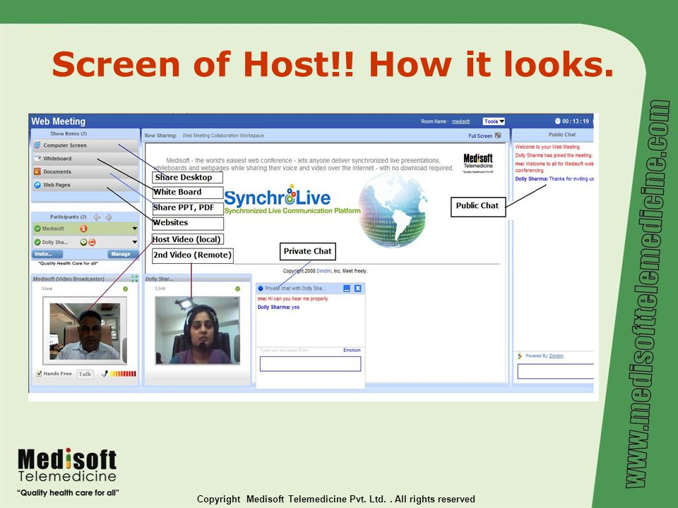 Medisoft Telemedicine Pvt  Ltd  A Telemedicine / Ehealth / - ppt