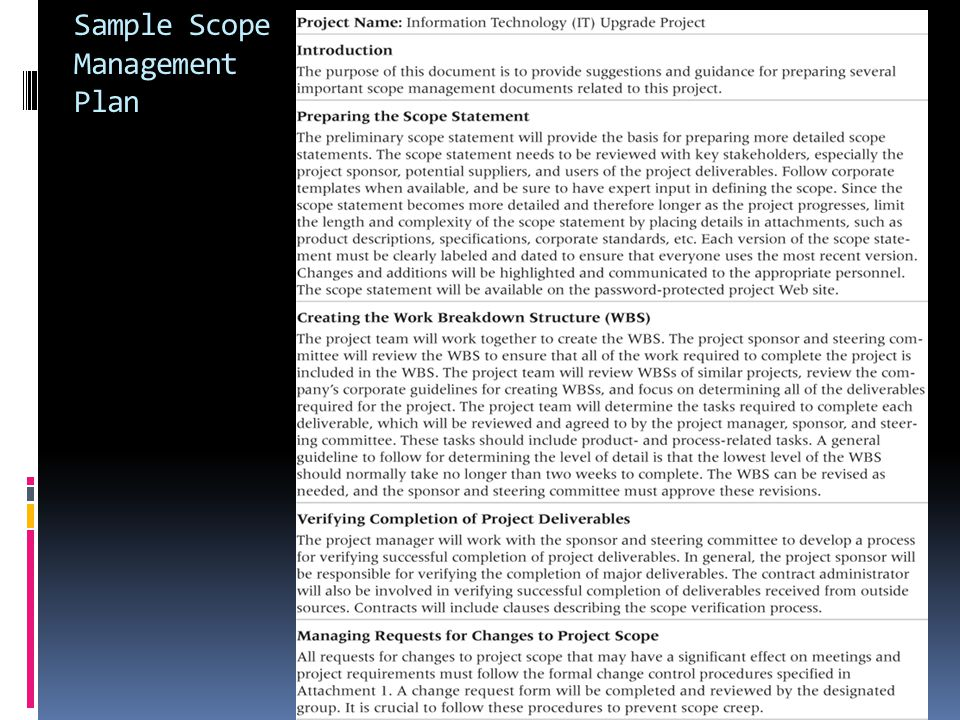 scope management example