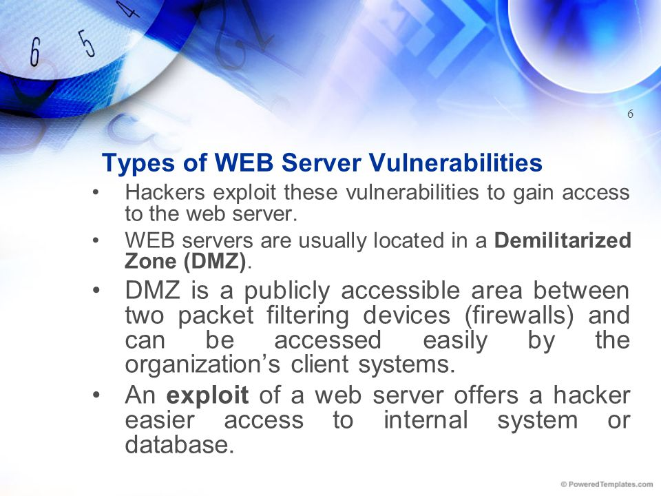 How WEB Servers Work WEB servers use Hyper Text Transfer