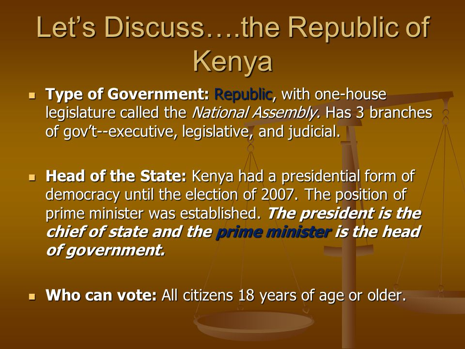 Let's Discuss….the Republic of Kenya