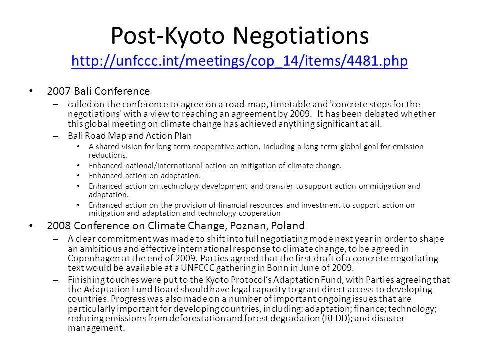 Post-Kyoto Negotiations   int/meetings/cop_14/items/4481