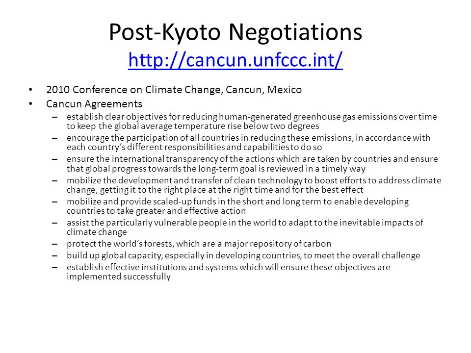 Post-Kyoto Negotiations