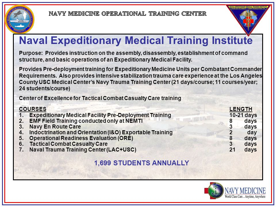 Navy Medicine Operational Training Center Ppt Video Online Download