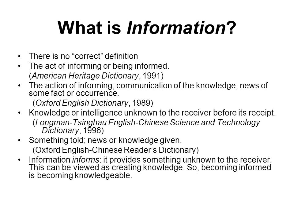 Information transfer and information science ppt download what is information there is no correct definition freerunsca Gallery