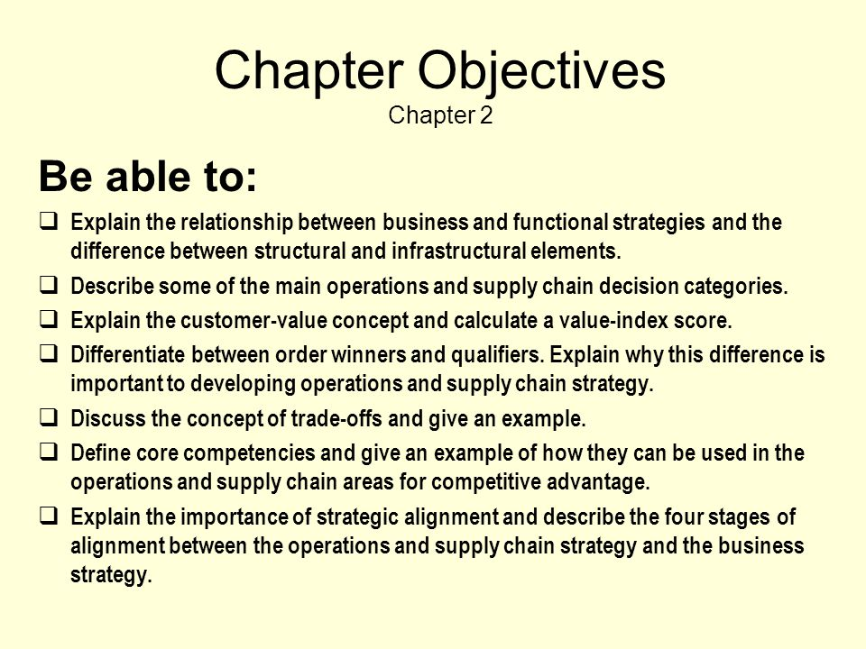 Chapter Objectives Chapter 2