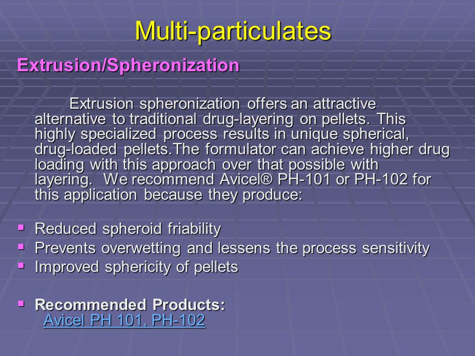 DESIGN AND APPLICATIONS OF EXTRUDER-SPHERONIZER - ppt video