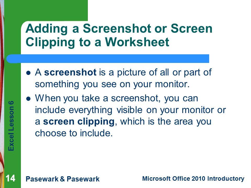 Excel Lesson 6 Enhancing a Worksheet - ppt video online download
