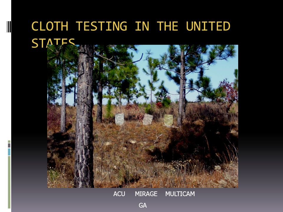 CLOTH TESTING IN THE UNITED STATES