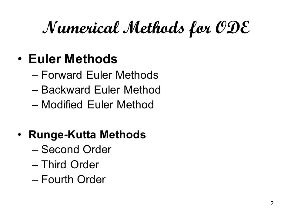 assignment runge kutta methods Numerical methods assignment #9 solving ode's with euler and runge-kutta methods this assignment will be done only in python 3 with a jupyter-notebook.