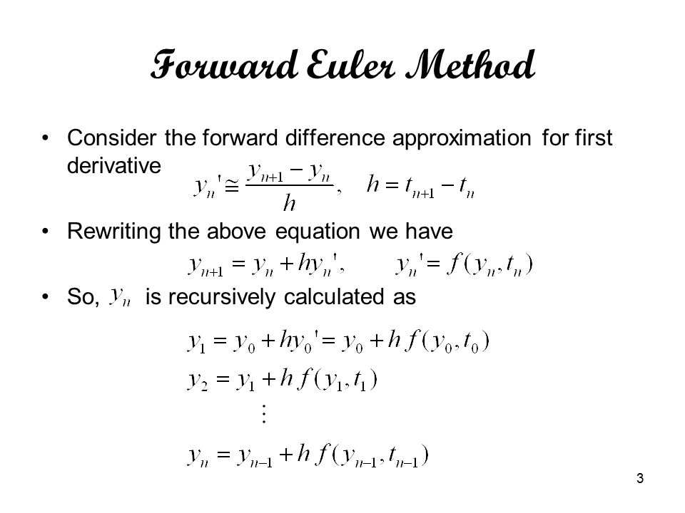 Numerical Solution of Ordinary Differential Equation - ppt