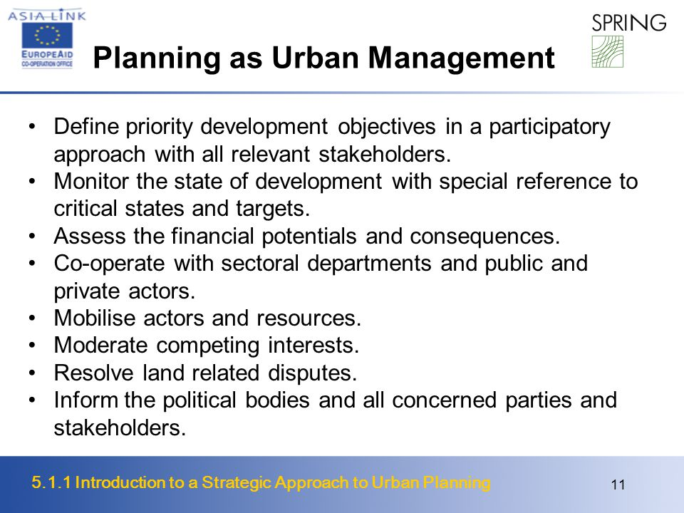 Planning as Urban Management