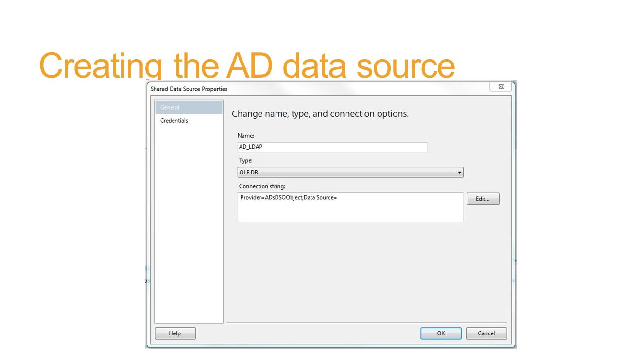 Querying Active Directory From SSRS - ppt download