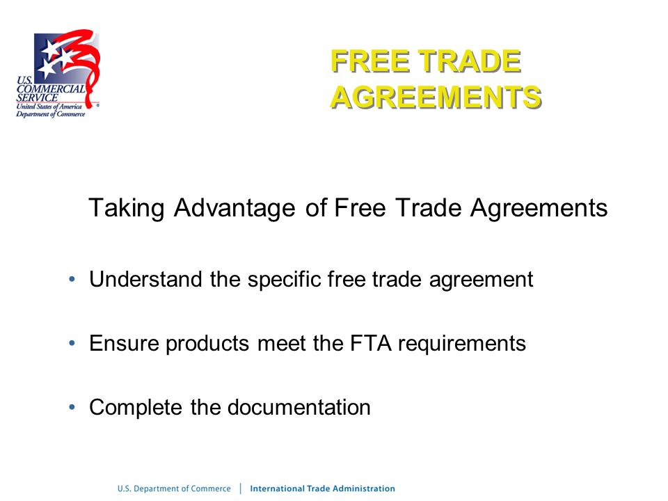 an introduction to the free trade agreement Australia-united states free trade agreement - guide to the agreement introduction disclaimer legal and institutional framework (incorporating in november 2002, prior to the commencement of negotiations for a fta between australia and the united states, the department of foreign affairs.