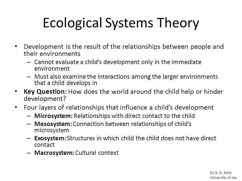 Bronfenbrenner S Ecological Systems Theory Ppt Video