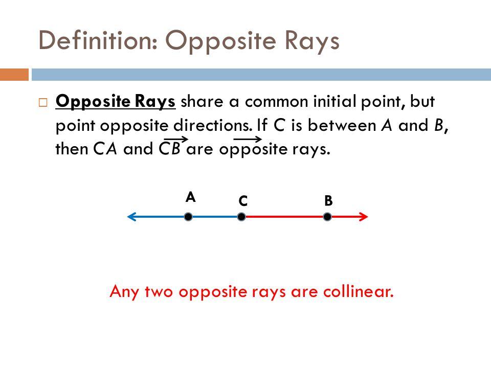 Opposite Ray In Geometry