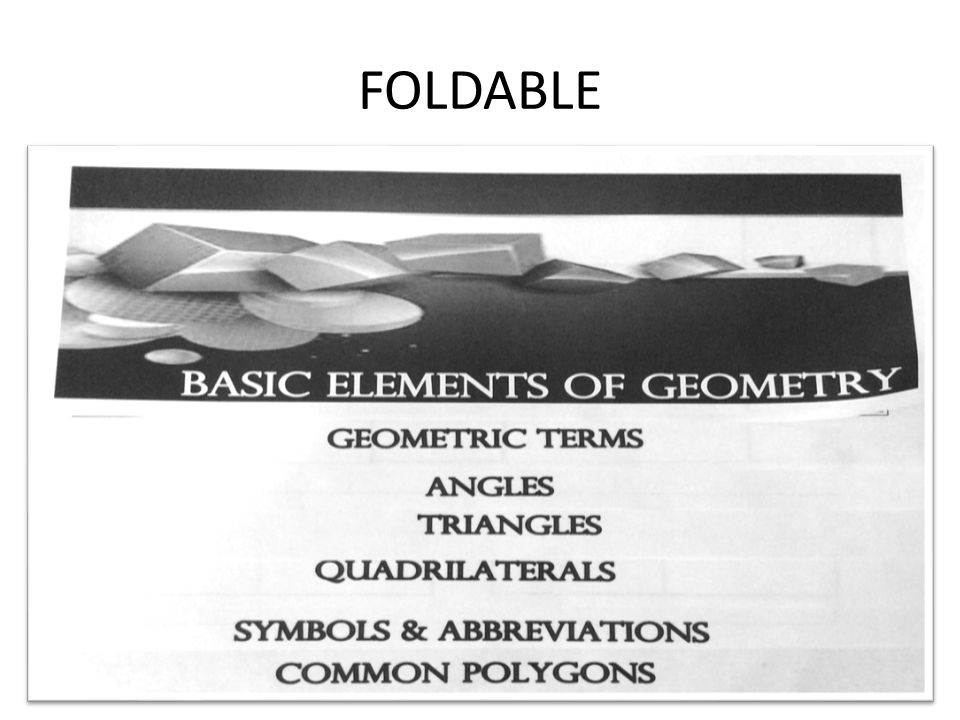 BASIC ELEMENTS OF GEOMETRY - ppt video online download
