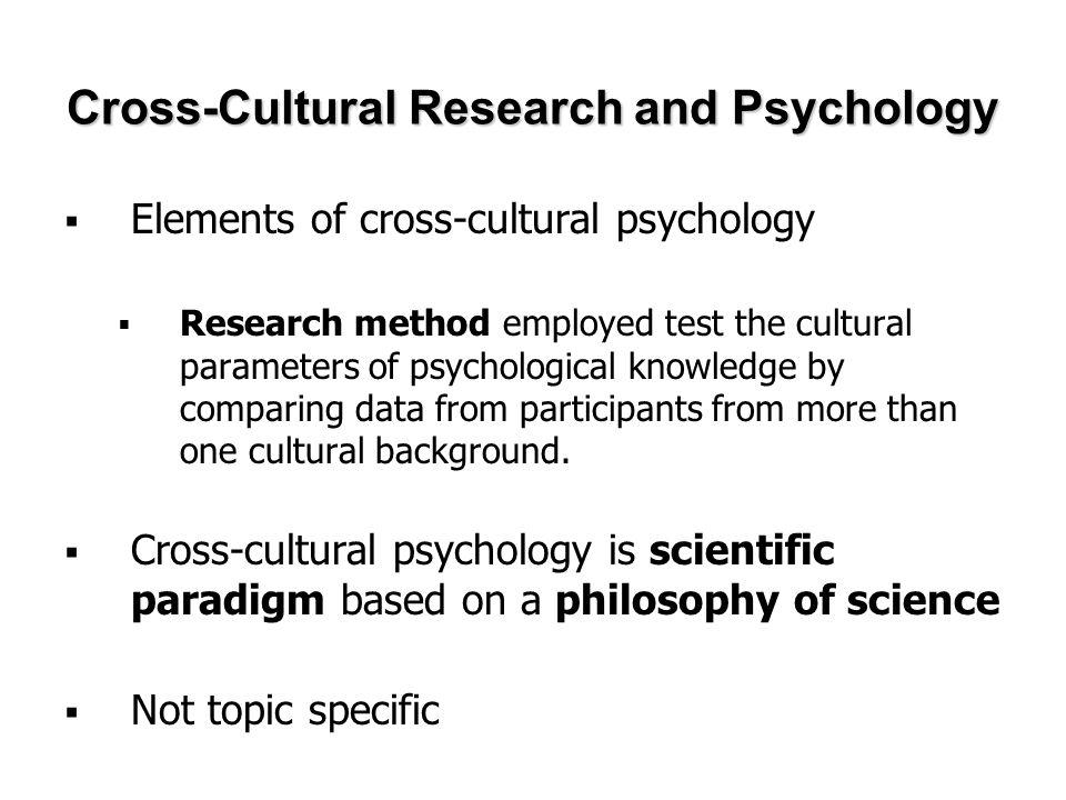 cross cultural psychology research topics