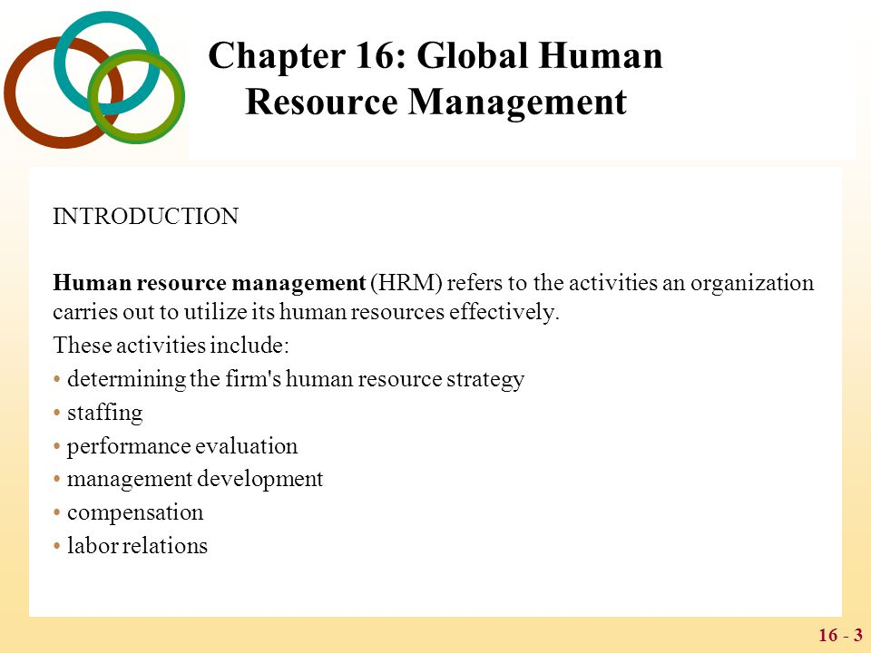 Global Human Resource Management - ppt download