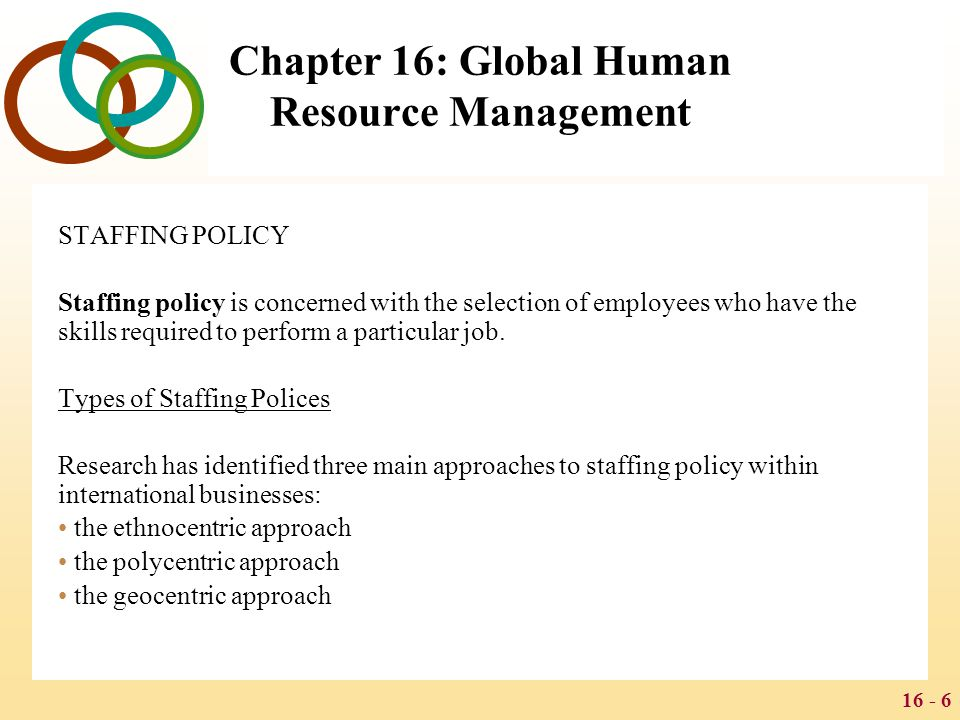 geocentric staffing