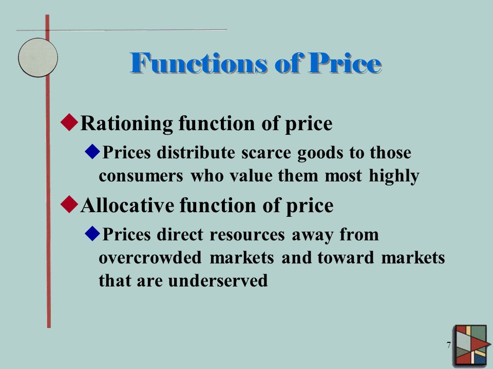 allocative function of prices
