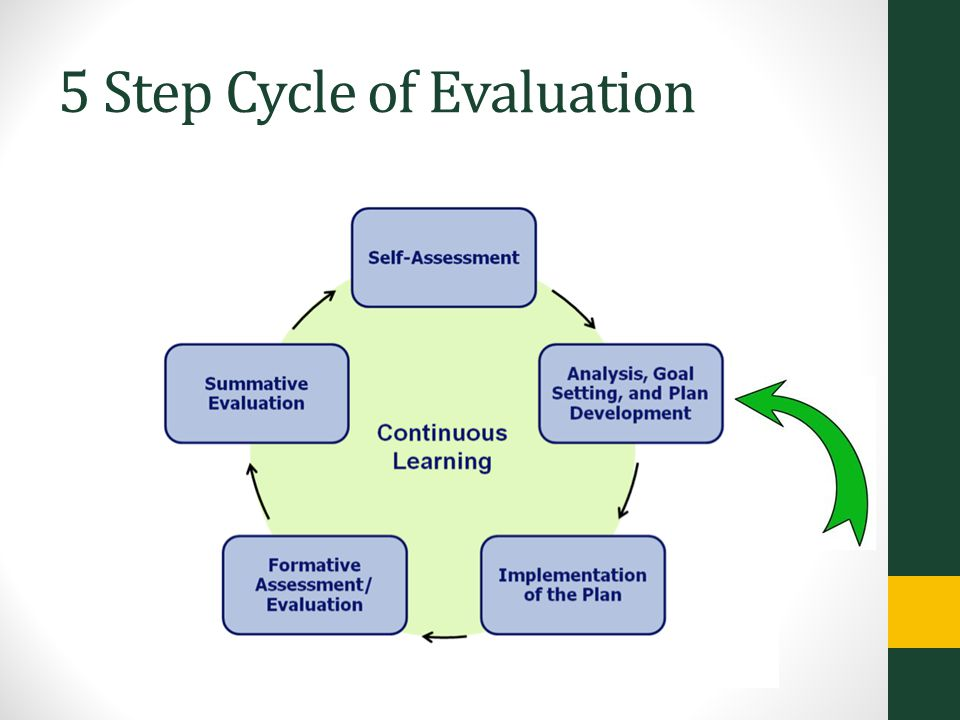 5 Step Cycle of Evaluation