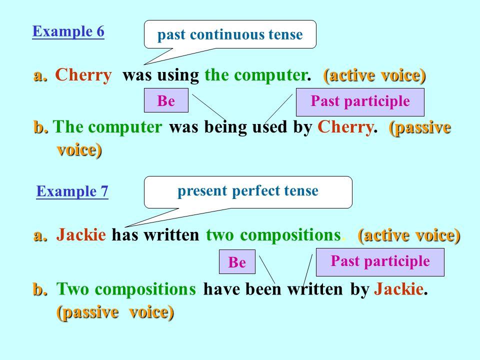 Past Tense Passive Voice Examples