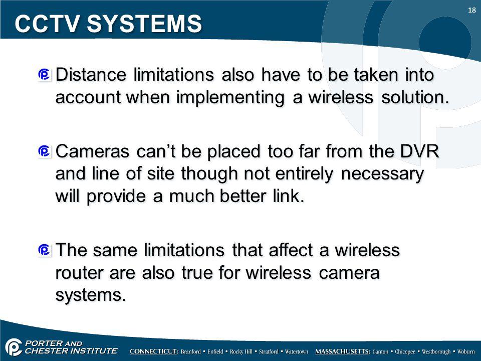 limitations of cctv