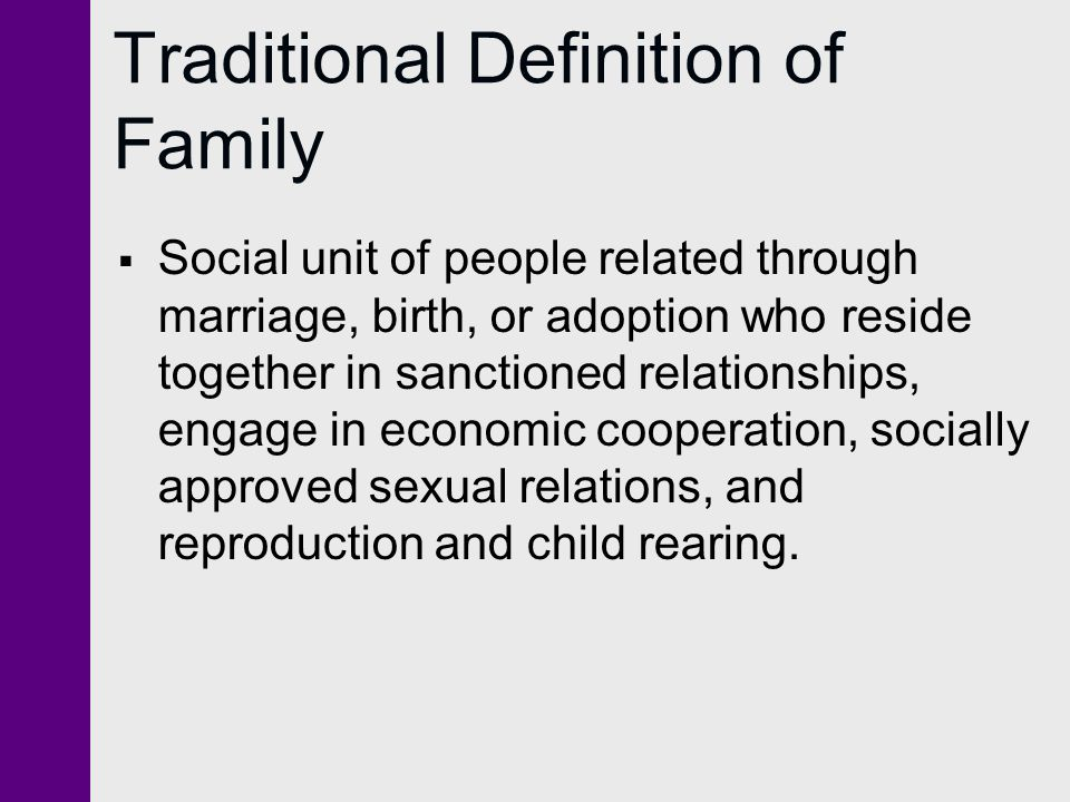 traditional family definition