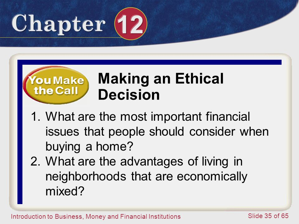 Making an Ethical Decision