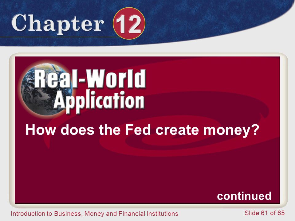 How does the Fed create money