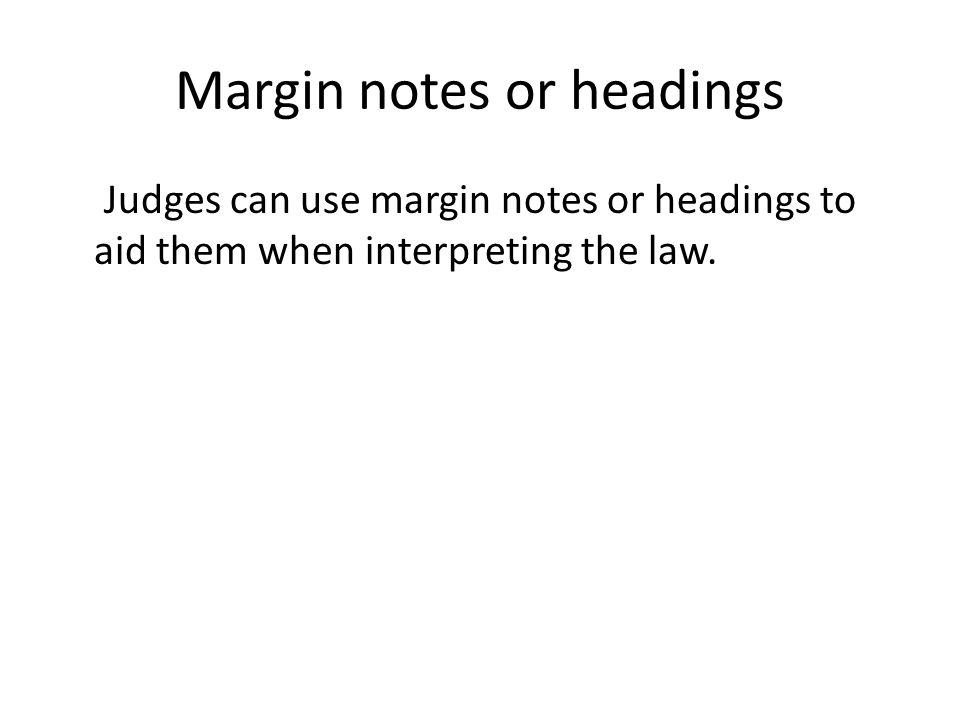 Margin notes or headings