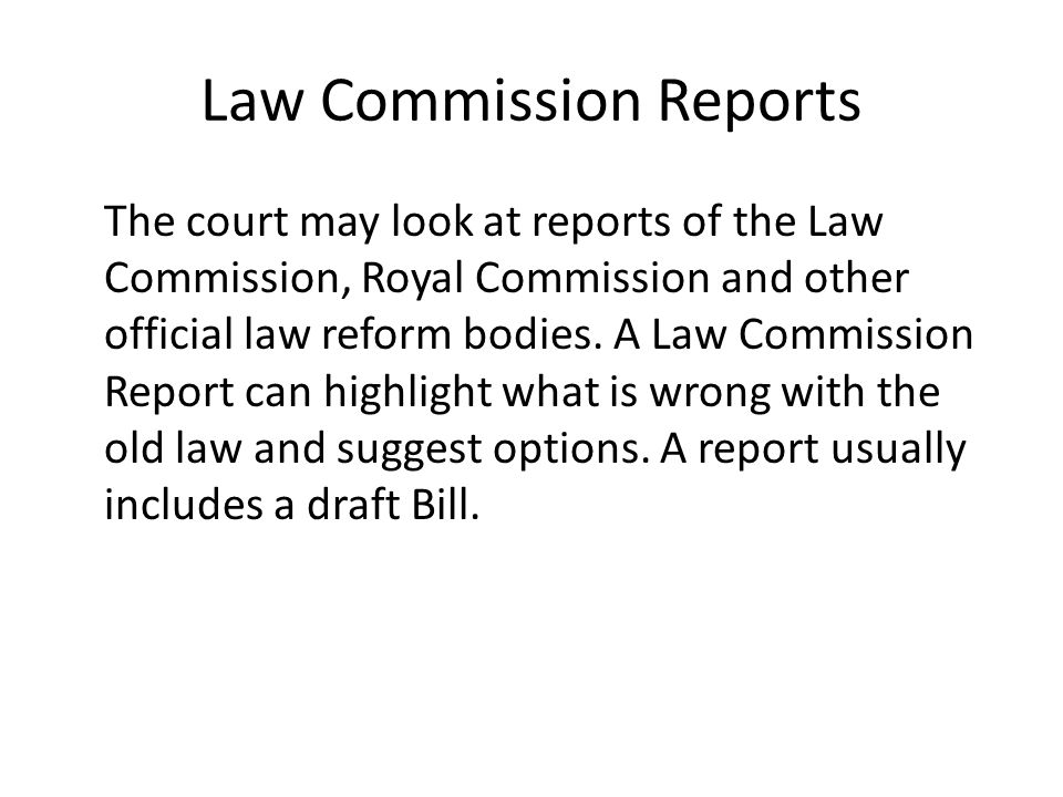 Law Commission Reports