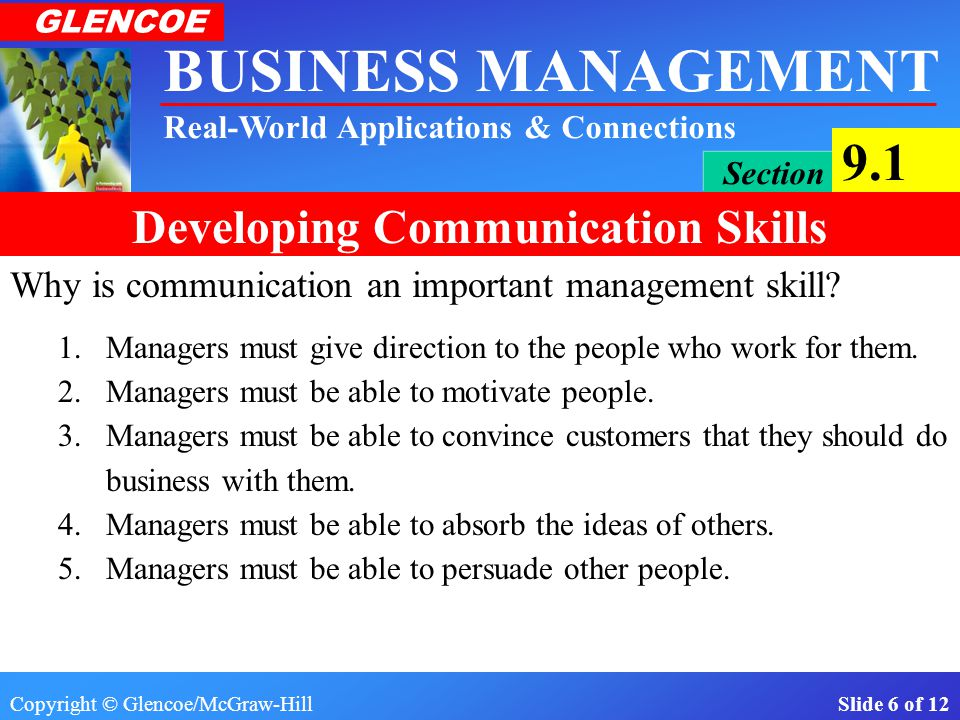 Why is communication an important management skill