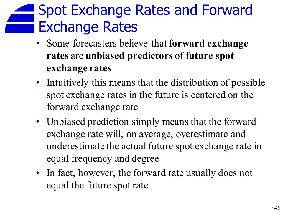 Spot Exchange Rates And Forward