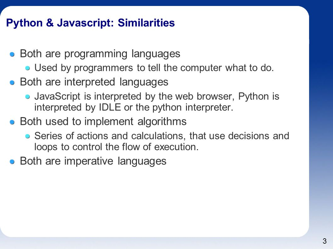 Introduction to JavaScript for Python Programmers - ppt download