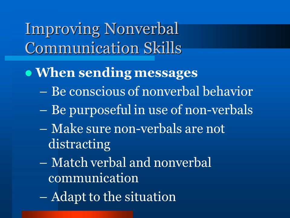 Improving Nonverbal Communication Skills