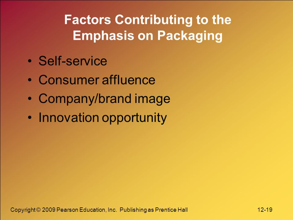 Factors Contributing to the Emphasis on Packaging