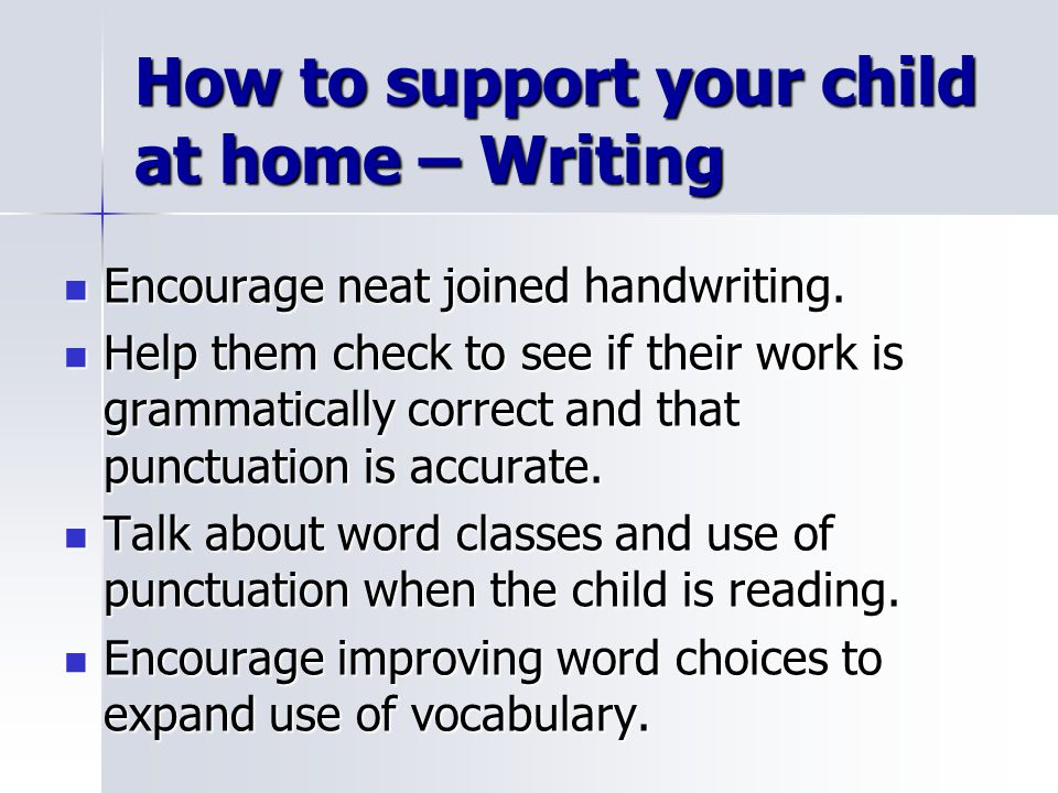 How to support your child at home – Writing
