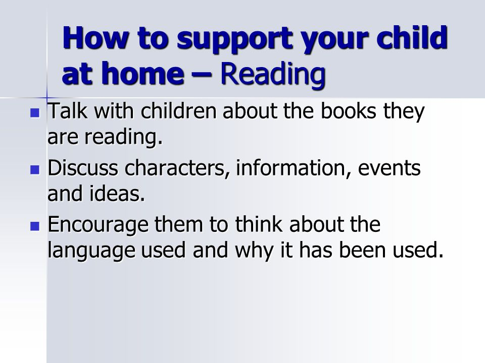 How to support your child at home – Reading