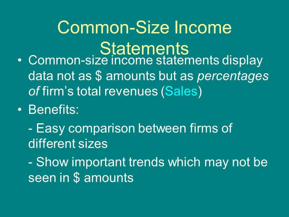 7 Common Size Income Statements