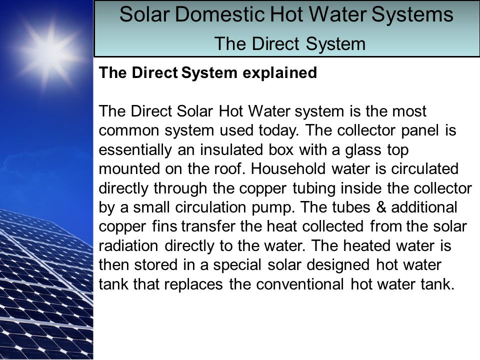 Solar Domestic Hot Water - ppt download