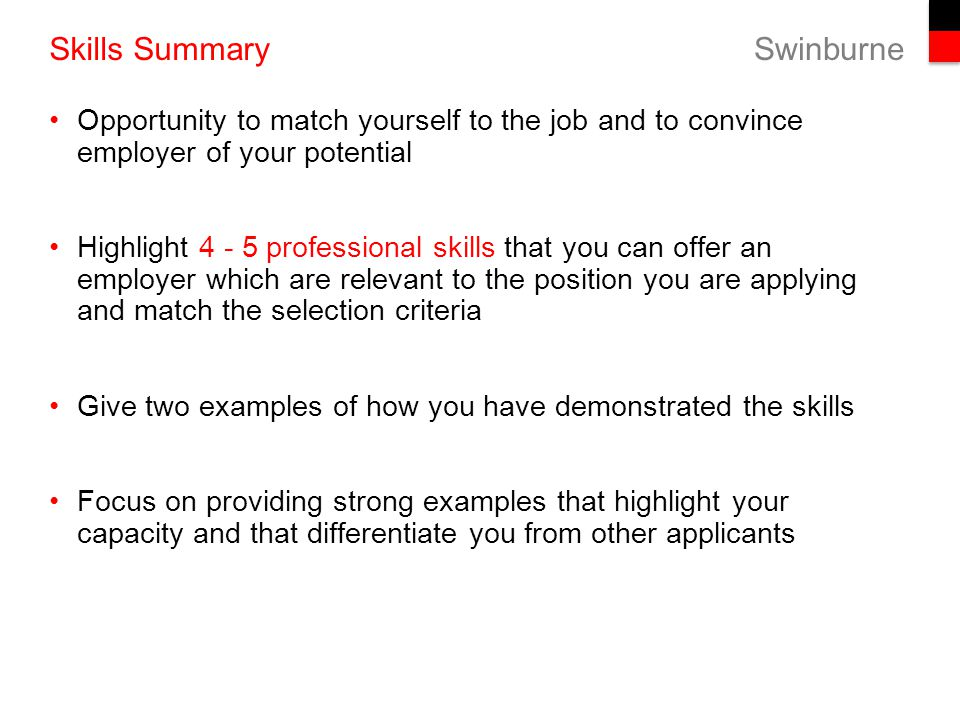 summary about yourself for a job - Parfu kaptanband co
