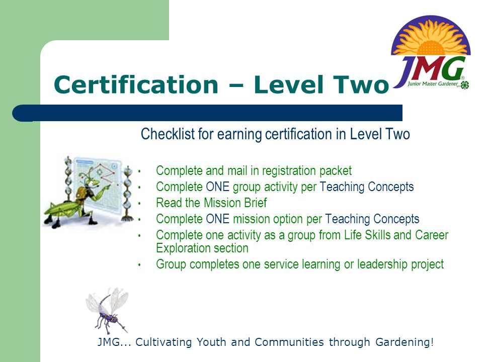 Certification – Level Two