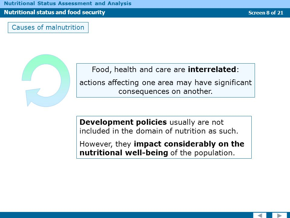 Food, health and care are interrelated:
