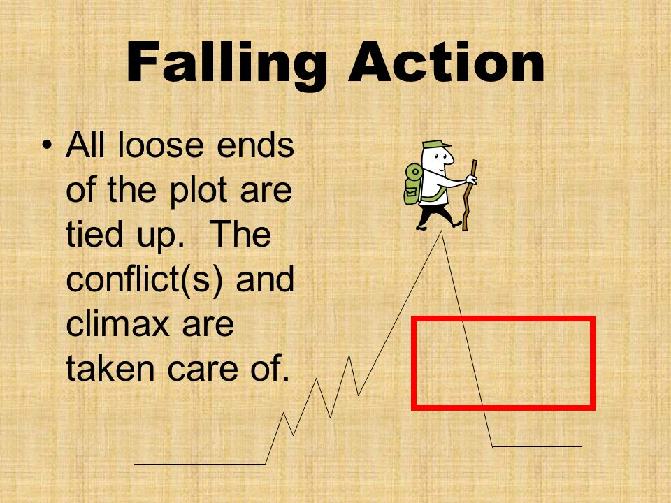 Falling Action All loose ends of the plot are tied up.
