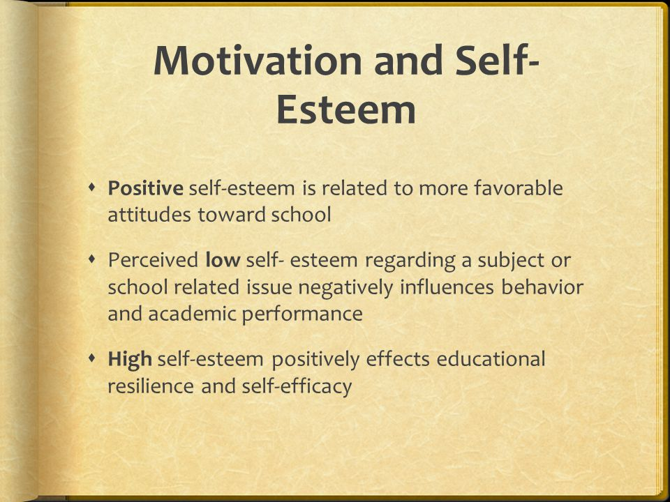 Motivation and Self-Esteem