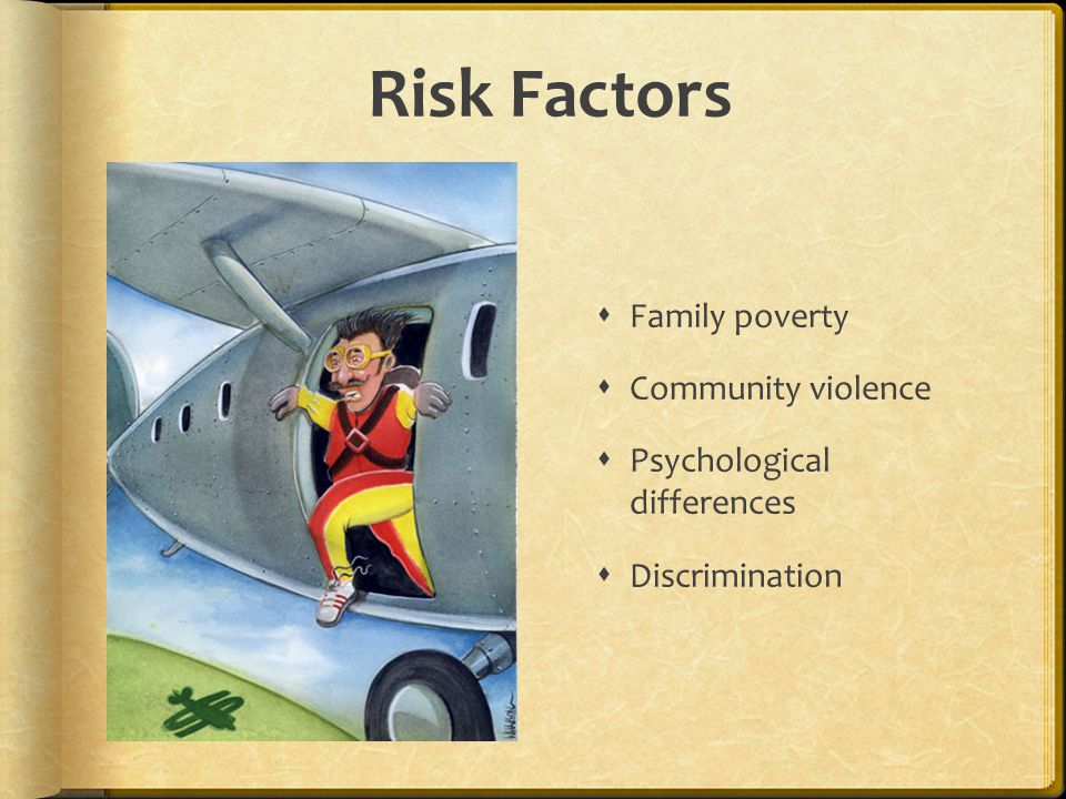 Risk Factors Family poverty Community violence