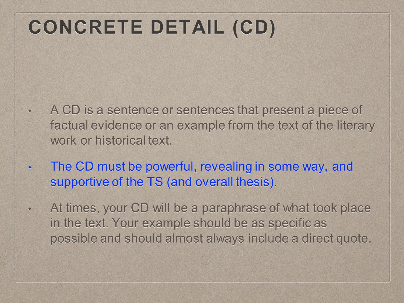 Concrete Detail (CD)