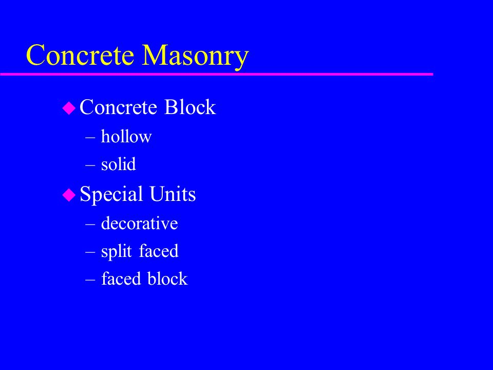 Masonry Details Ppt Video Online Download